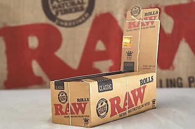 Full Box  Raw Classic Rolls 3 Meters - King Size 3M Roll Per Pack - 12 Packs