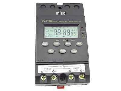 MISOL 12V Timer Switch Timer Controller LCD display,program/programmable timer s