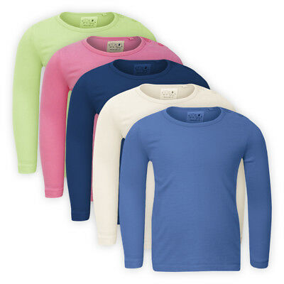 NEXT Girls Cotton Plain TOP Assorted Colours Children Kids Baby Crew Neck TShirt