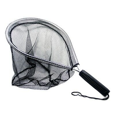 Fly Fishing Landing Handle Net Nomad Rubber Fish Nylon Mesh Trout Bag Tackle