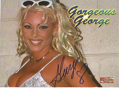 Wwe Wwf Gorgeous George Autographed Hand Signed 8X10 Photo Wrestling Picture