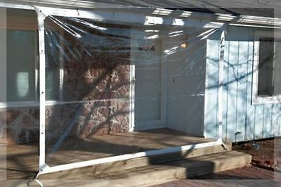 7' x 20' Clear Tarp 24 MIL Clear Vinyl Patio Enclosure - New - Made in USA