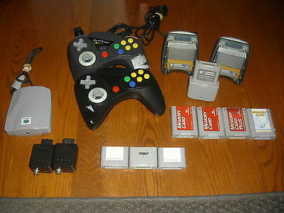 Assorted Lot of N64 Nintendo 64 Accessories, controllers, memory cards, paks etc