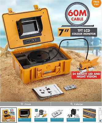 "Mytopia 60m Underwater Video Camera Fishing Fish Finder Colour 7"" LCD TFT Screen"