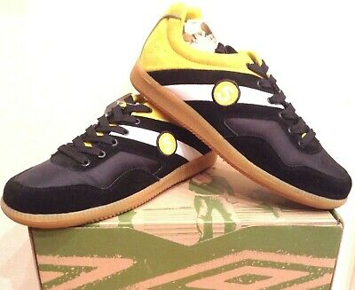 Umbro Boys Girls Retro Classic Gt Sala 5 Ws Black & Yellow Trainers Bnib Uk 4