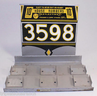 Vintage Advertising Display Hy-Ko Countertop Aluminum 10 cent Numbers Hardware