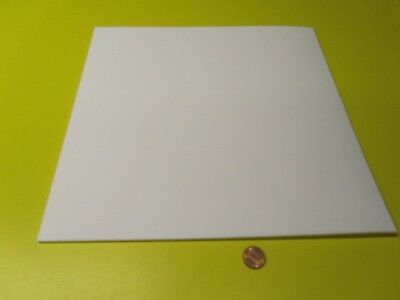 "Teflon PTFE Virgin Sheet, 1/8"" - .125"" x 12"" x 12"" White, 1 Pcs"