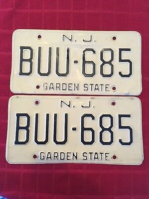 VINTAGE 1970's NEW JERSEY LICENSE PLATES