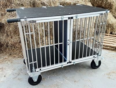 "Titan Giant 1 or 2 Berth Aluminium Dog Show Trolley w/8"" All Terrain Wheels"