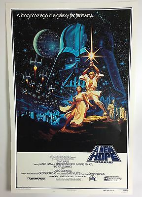 Star Wars 15th Anniversary Rare A New Hope Title One Sheet Poster, Kilian