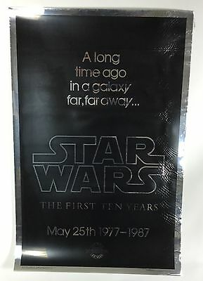 Star Wars 10th Anniversary The First Ten Years Silver Mylar One Sheet Poster