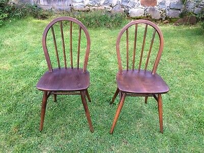 Pair Of Ercol Dining Chairs