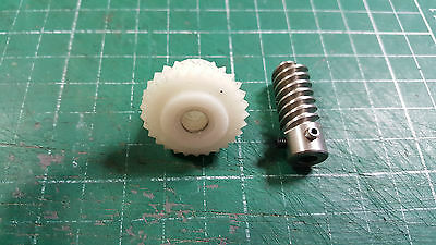 Worm & Worm Wheel Gear From Military Airplane Parts
