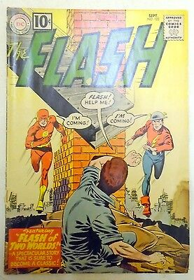 The Flash (Vol. 1) 123 Sept 1961 Poor 1st Silver Age Appearance Golden Age Flash