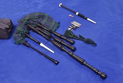 Brand New Full Size Bagpipes Rosewood Black Color with Free carrying case