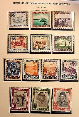 Indonesia -Java And Sumatra 1949  Mint/lh Stamps....worldwide Stamps