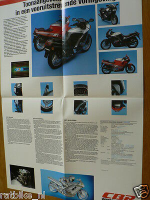 Hap-303 Honda Cbr1000F Poster Brochure Dutch 8 Pages Cbr600F