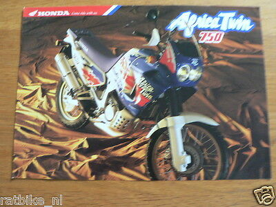 Hap-356 Honda Brochure Xrv750 Africa Twin 2 Pages 4 Languages