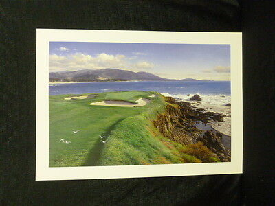 Larry Dyke Signed Approaching the Seventh L/E Lithograph Pebble Beach Golf