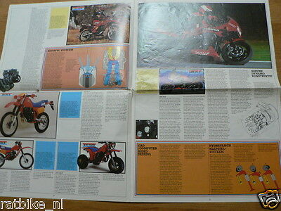 Hap-404 Honda  Brochure Dutch 8 Pages Not Complete Cbx 750F,Gl1200D,Xr500R,Xl250