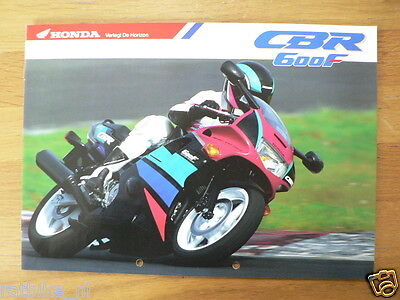 Honda Brochure Prospekt Folder Cbr600F Dutch 8 Pages Ph507
