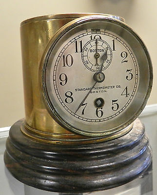 Early Boston Chelsea Clock Co. Car? Clock (Standard Thermometer Co.) Ser.# 48599 • EUR 359,64
