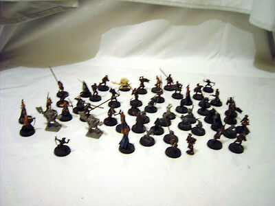 Warhammer Lord of The Rings 54 Plastic Figures Painted and Unpainted