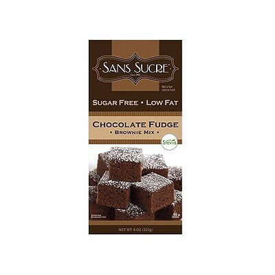 Sans Sucre Chocolate Fudge Brownie Mix with Stevia 227 g, Low Carb, Sugar Free