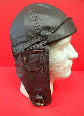 Royal Flying Corps Leather Flying Helmet Size Large