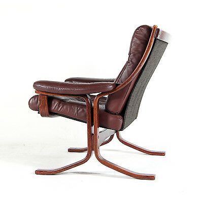 Retro Vintage Danish Design Rosewood Leather Lounge Easy Chair Armchair 60s 70s