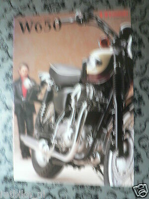 K181 Kawasaki  Brochure W650 Dutch 8 Pages,let The Good Times Roll