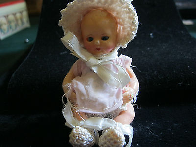 4 INCH CELLULOID BABY DOLL made in Italy