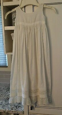 Antique Baby Girl French Lace Petticoat Victorian Dress Under Slip 30 inches