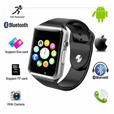 Bluetooth Smart Watch Phone Mate GSM SIM For Android iPhone Samsung HTC LG A1
