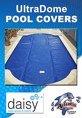 NEW Titanium Blue- Daisy 8.5m x 4.4m Solar swimming Pool Cover Blanket 525micron