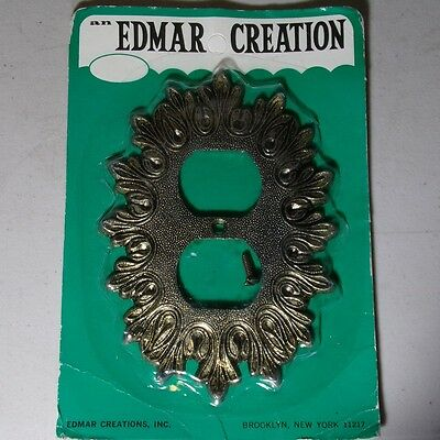 OUTLET PLATE Edmar USA 32D Vintage NOS still in package mid century pewter metal