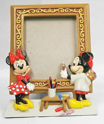 Disney Photo Frame of Mickey Painting Minnie Free Standing