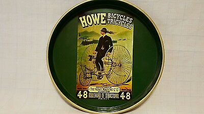 Advertising Serving Tray: HOWE Bicycles Tricycles