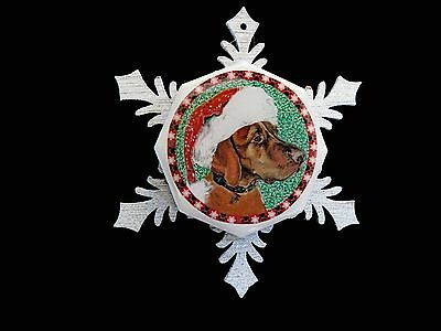 Santa Vizsla Christmas Ornament