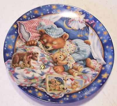 "Bradford Exchange Lullabears ""Sweet Dreamin"" Plate - Limited Edition, COA"