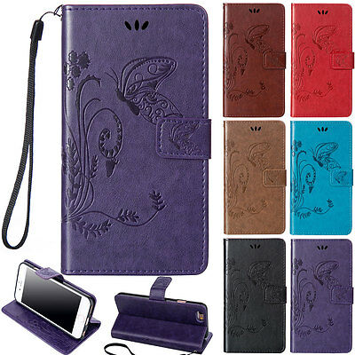 Pattern Stand PU Leather Magnetic Wallet Card Case Flip Cover For iPhone 5 5s SE