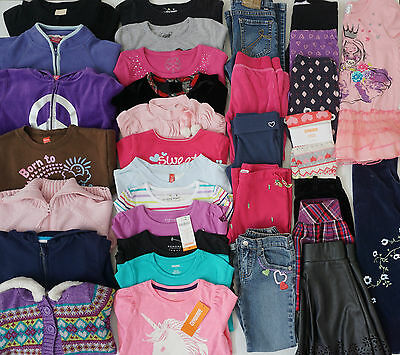 Girls Size 5 New and Used Fall Clothes Lot of 33 Items L3-17