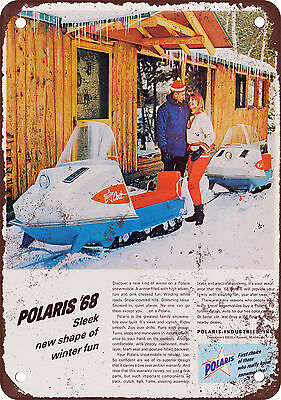 1968 Polaris Snowmobiles Vintage Look Reproduction Metal Sign
