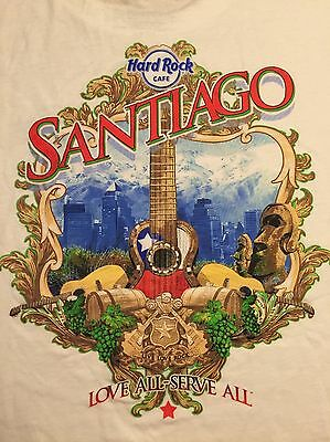 Hard Rock Cafe Santiago - NEW Authentic T-Shirt Size L with Tag