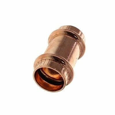 """Viega Copper Press Fitting Bag of 10 / 1/2"""" Coupling Socket Joiner Water marked"""