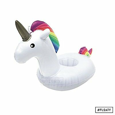 FLOATY Inflatable Unicorn Cup Holder Always Drink in Magical Style
