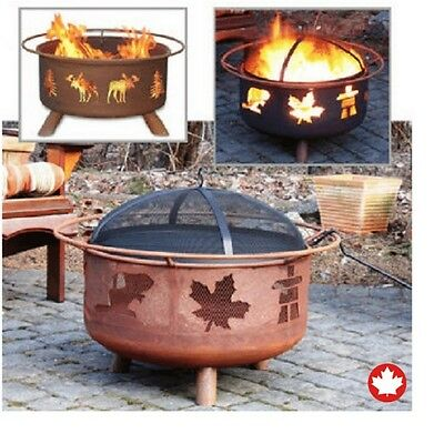 Fire Pit Garden Home Backyard Patio Outdoor Camping Safe Steel Grill Accessories