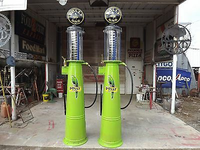 Vintage POLY GAS Visible Gravity Flow 10 GB Barker Gas Pump (1 of 2) REDUCED!