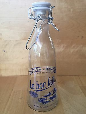 Vintage Le Bon Lait Milk Bottle