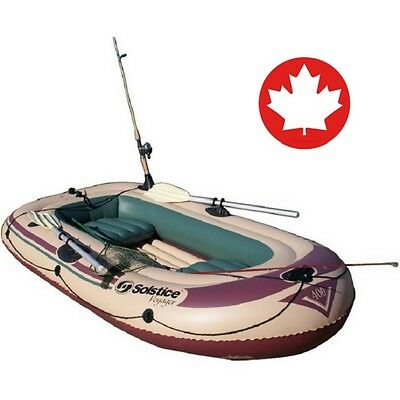 Inflatable 4 Person Fishing Boat Dingy Raft Craft Tough Safe Family Leisure NEW